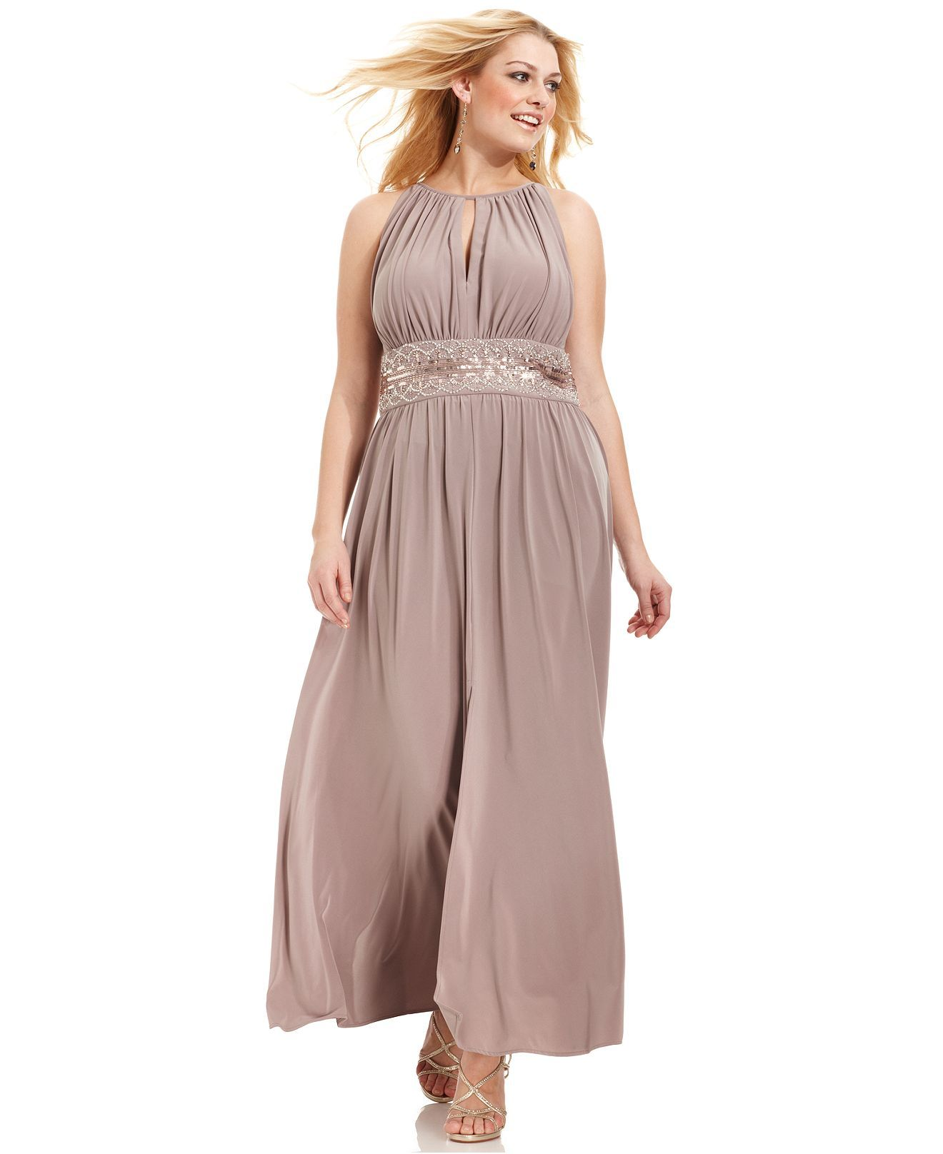 R&M Richards Plus Size Sleeveless Beaded Gown | Gowns, Clothes and Curvy