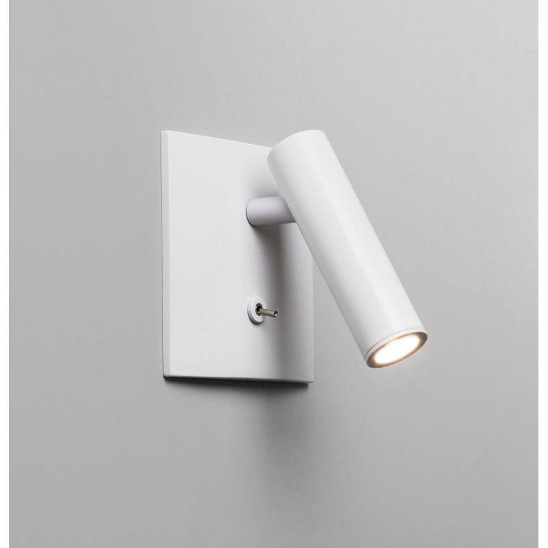 applique murale led encastrable enna blanche avec interrupteur