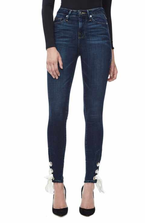 Women/'s Ladies High Waist Stretchy Skinny Summer Slim Fit Jeans Pants Size 8-16