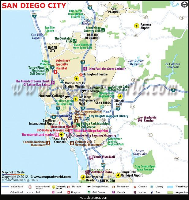San Diego Subway Map.Nice San Diego Metro Map Holidaymapq San Diego Map California