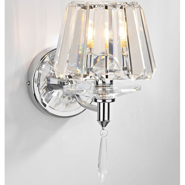 Crystal Wall Lights with Crystal Glass Shade and Crystal ...