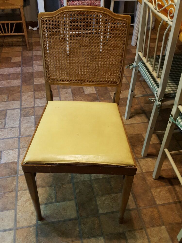 Pleasing Vintage Antique Leg O Matic Folding Chair Cane Back With Tag Inzonedesignstudio Interior Chair Design Inzonedesignstudiocom