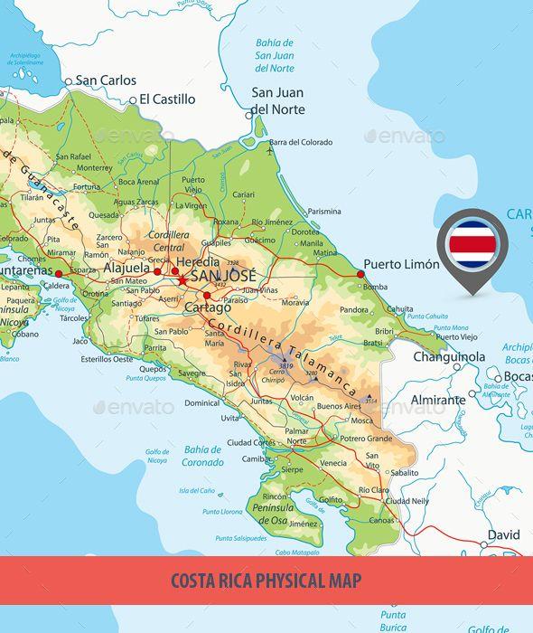 costa rica physical map Costa Rica Physical Map Physical Map Map Costa Rica costa rica physical map