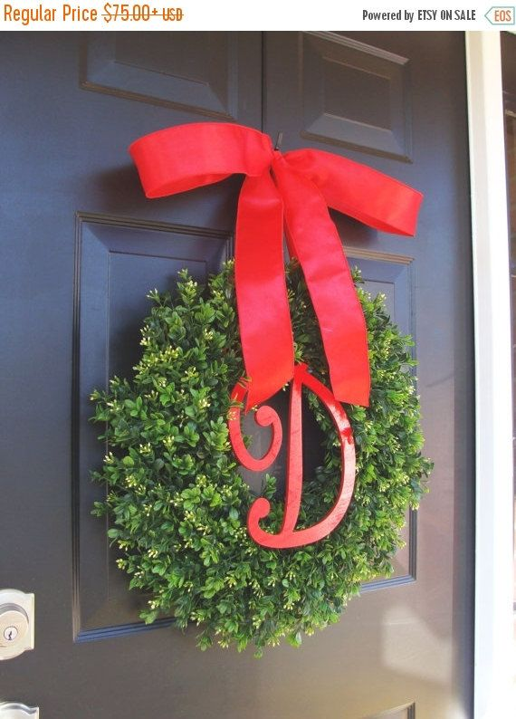 wreath sale black friday christmas decor christmas wreaths holiday boxwood wreath christmas wedding decor 16 22 inches available - Black Friday Christmas Decoration Deals