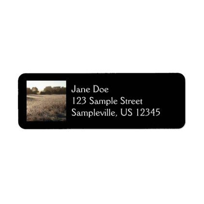 Sunrise At Bear Valley Trailhead Label  Return Address Labels