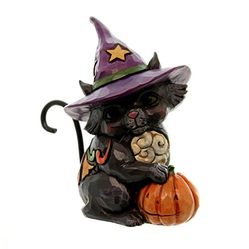 Enesco Jim Shore Mini Black Cat Witch