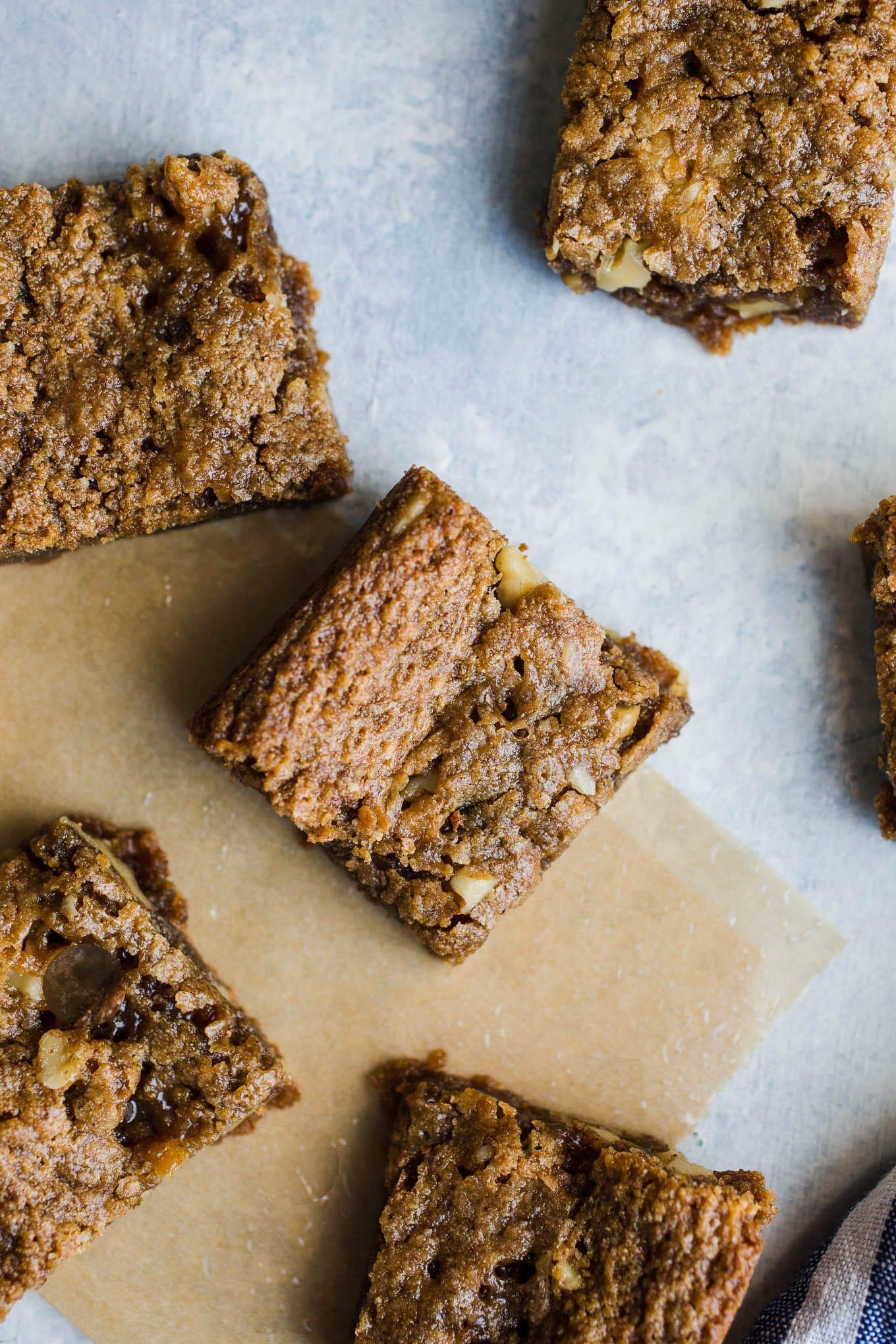 Gluten Free Maple Walnut Blondies Vegan