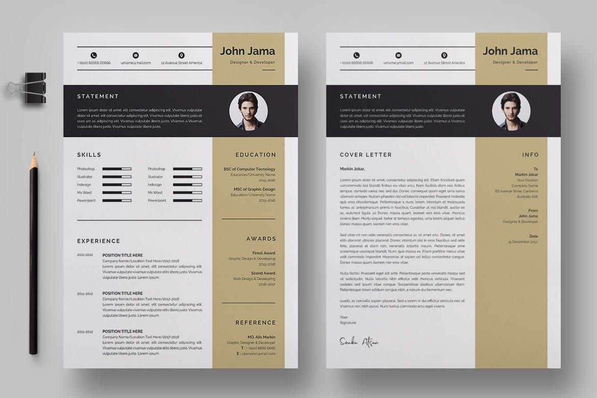 Resume template 162 by bdthemes on envato elements in 2020