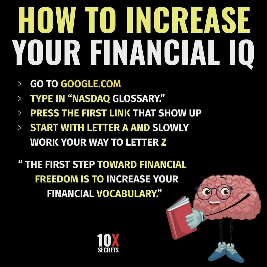 How To Increase Your Financial Iq Money Management Advice Budgeting Money Finance Investing