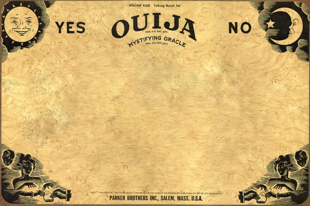 make your halloween invites with this Ouija Board for the text - halloween invitation template