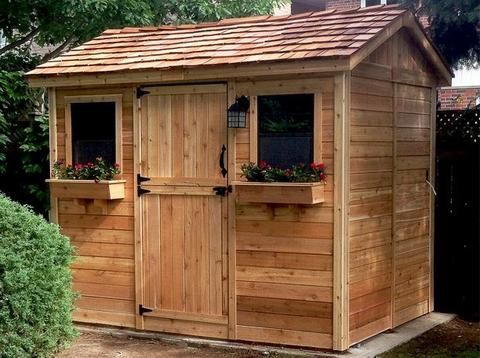Outdoor Living Today - 9 x 6 Cabana Shed with Dutch Doors ... on Outdoor Living Today Cabana id=21103