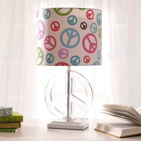 Peace Sign Bathroom Decor Endearing Pbteen Peace Sign Lampshade And Base  Peace  Pinterest  Signs Decorating Design