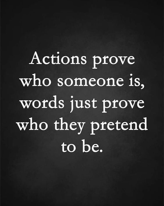 Actions vs. Words Quote