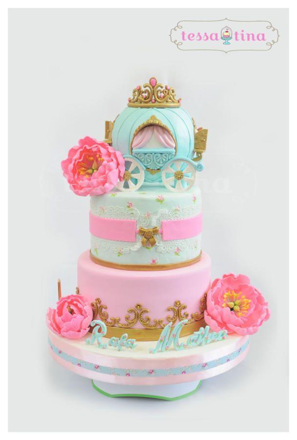 Shabby Chic Princess cake Cake by tessatinacakes cinderella