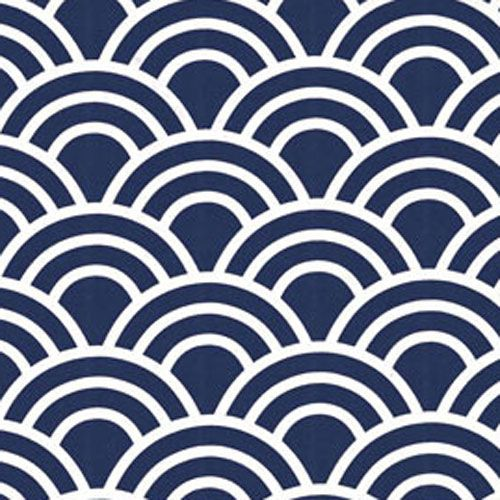 Fabric Navy Blue Fabrics And White Print By The Yard