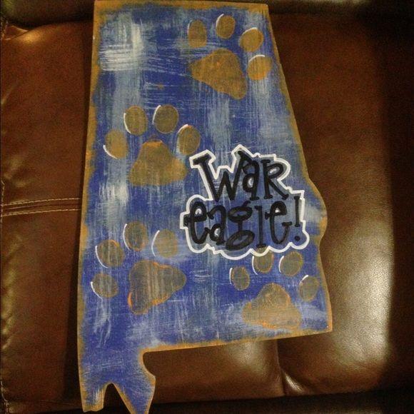 """Hand painted """"War Eagle"""" door hanger Hand painted War Eagle door hanger, will attach a ribbon of any color. Other"""