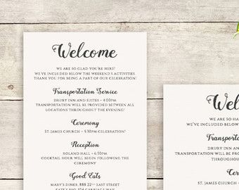 Welcome Note Printable Welcome Letter Template Instant Download