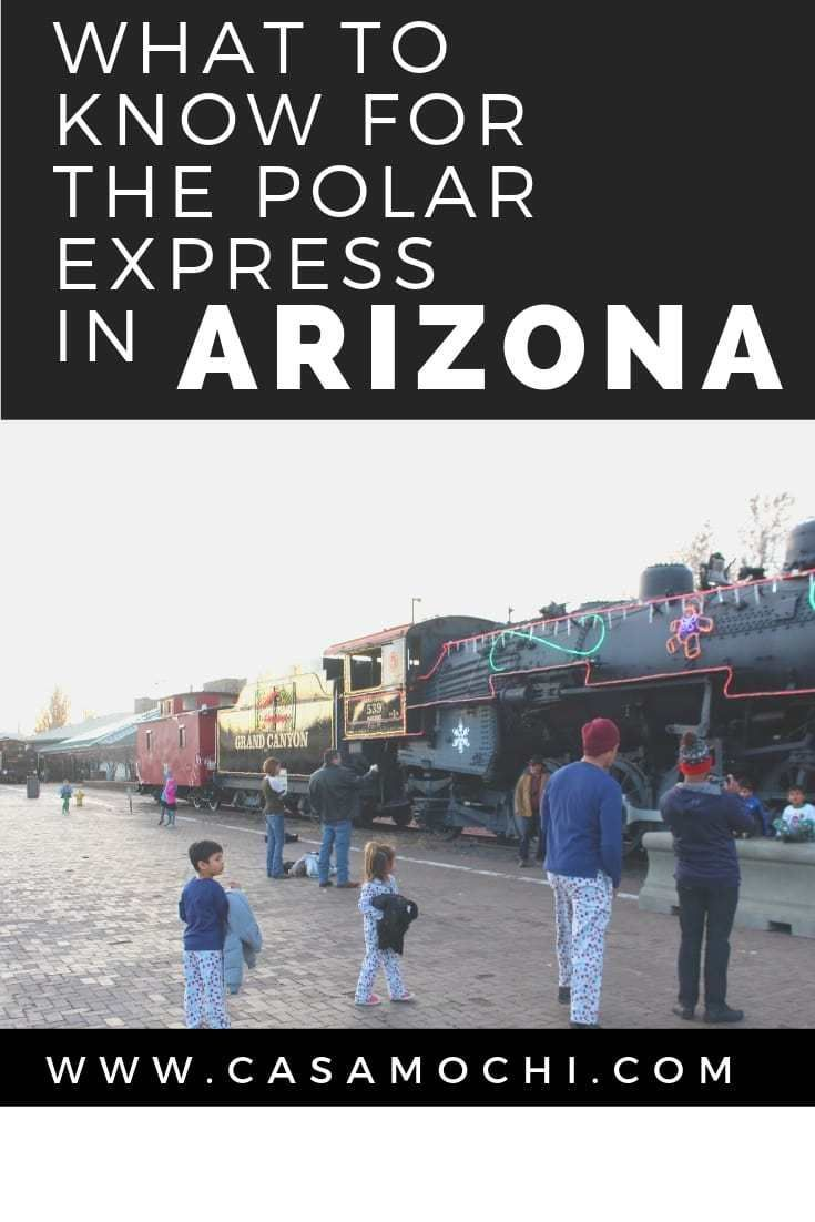 What to do, what to wear, and what to know for the Polar Express in Arizona. Polar express in arizona, Polar express grand canyon, polar express train, travel blog, mom blog #grandcanyonrailway #polarexpress #polarexpresstrain #christmasfeels #holidayacti