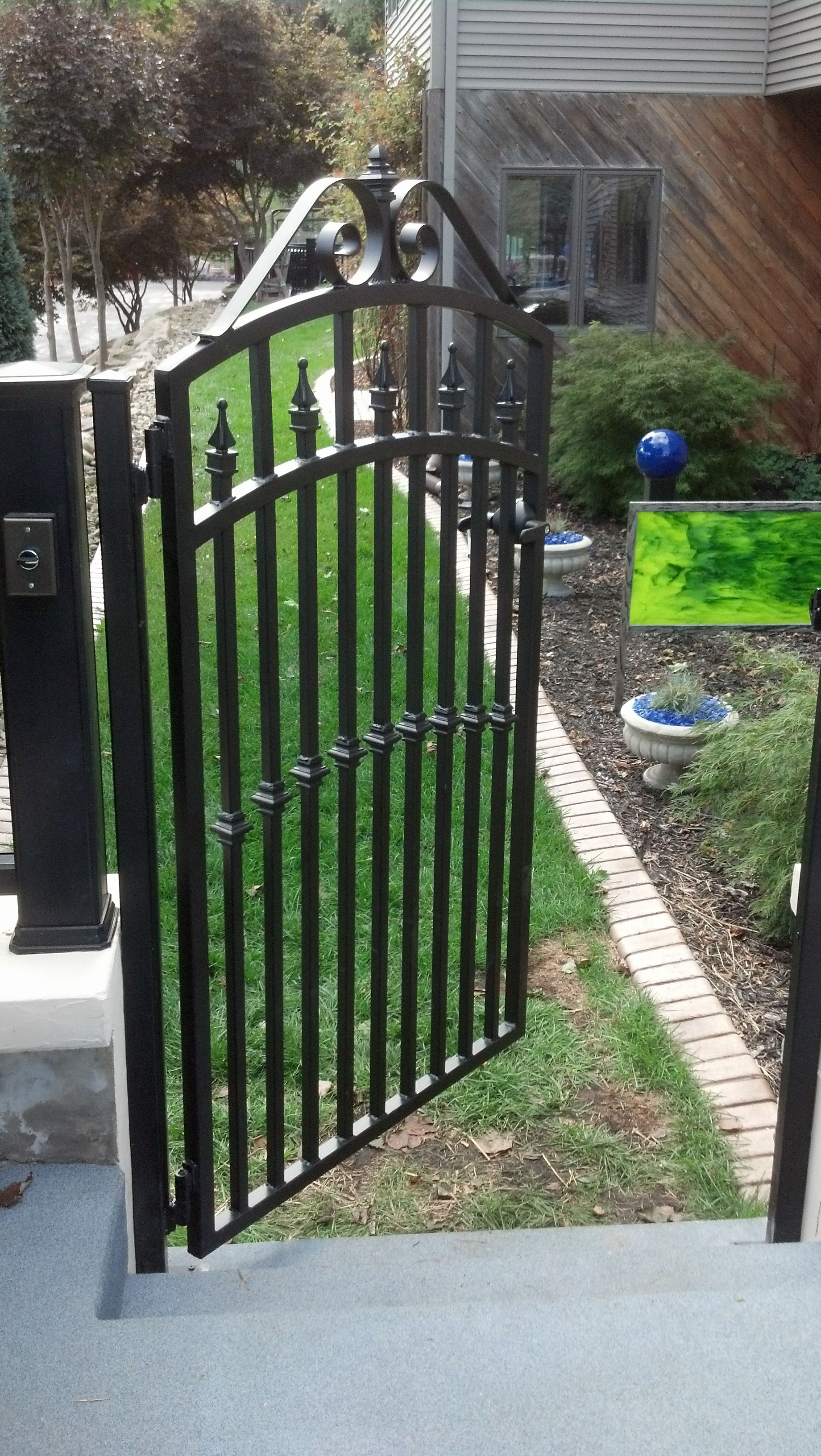 Pin By Brian Mann On Wrought Iron Beds Pool Gate Custom Gates