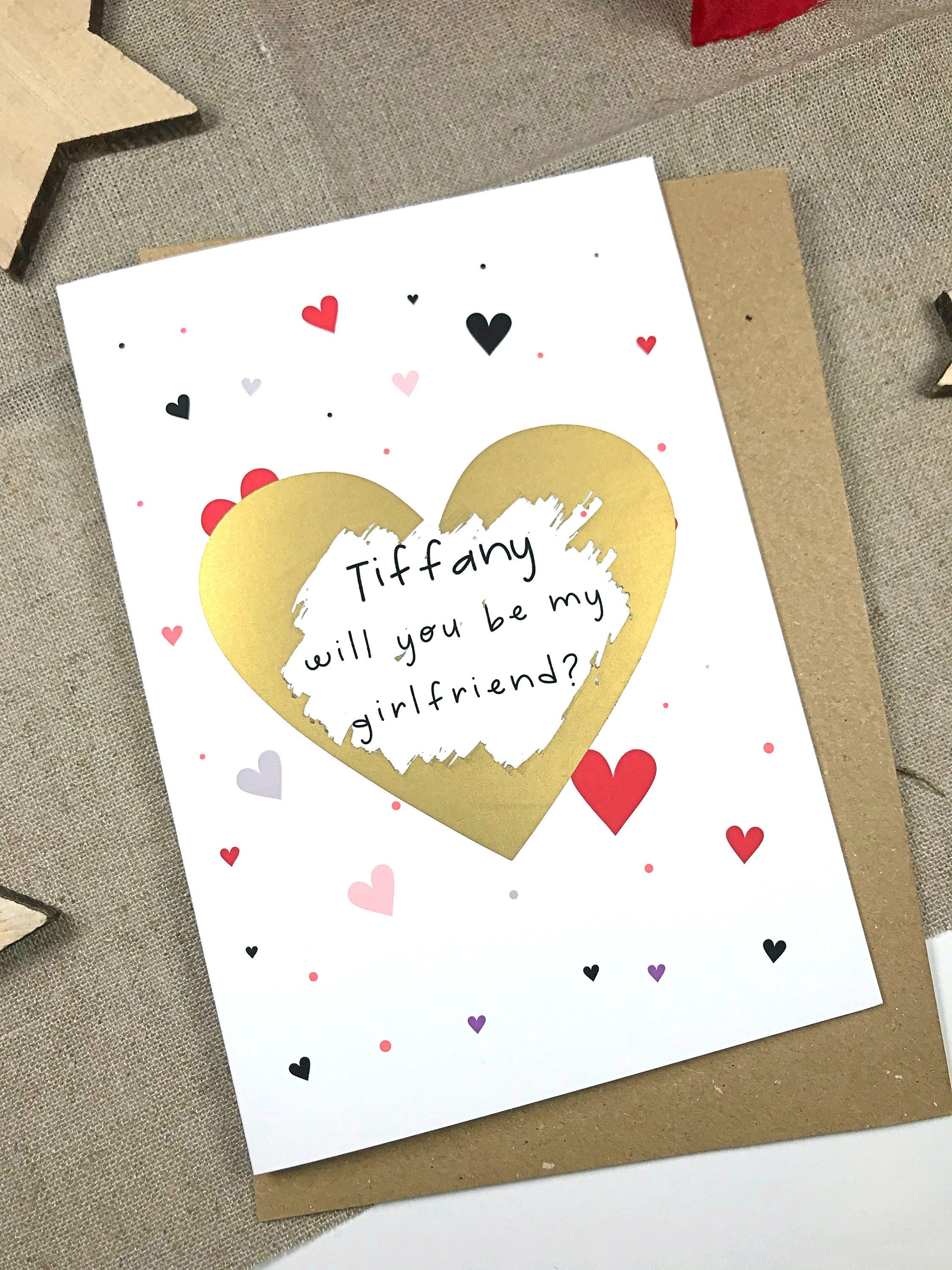 Will You Be My Girlfriend Card Proposal Card Be My Etsy Girlfriend Card Will You Be My Girlfriend Me As A Girlfriend