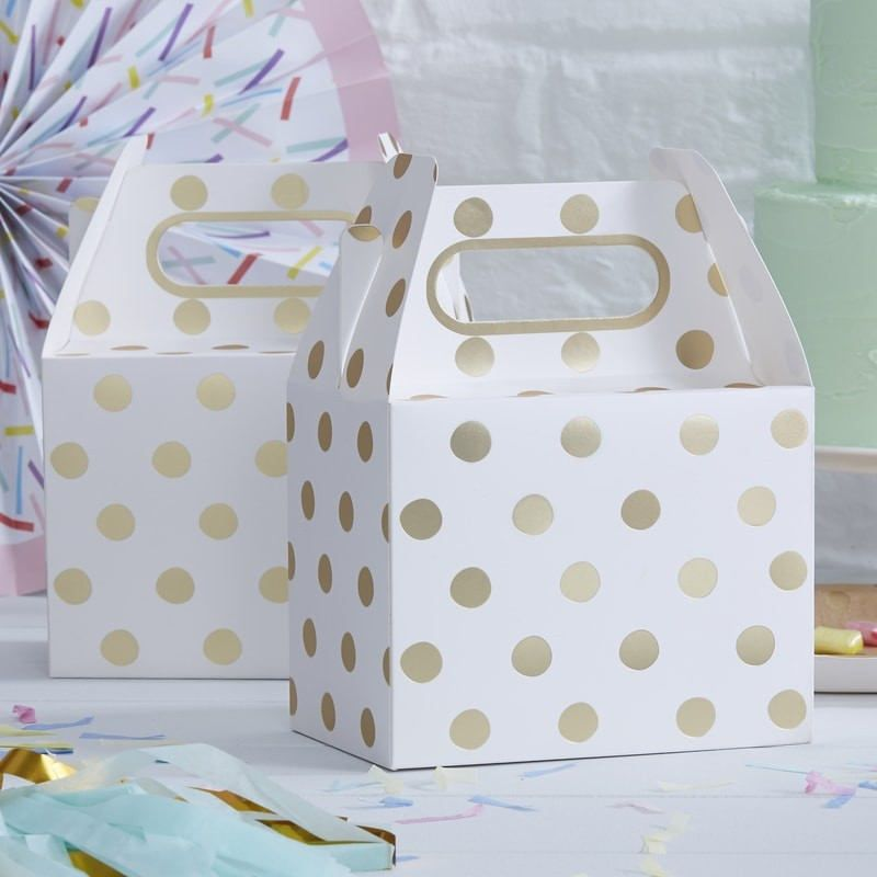 Gold Foil Polka Dot Party Bos Wedding Favours Gift Bags Children S Bo Childrens Tableware Lunch Box