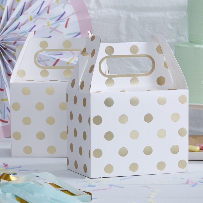 Gold Foil Polka Dot Party Boxess