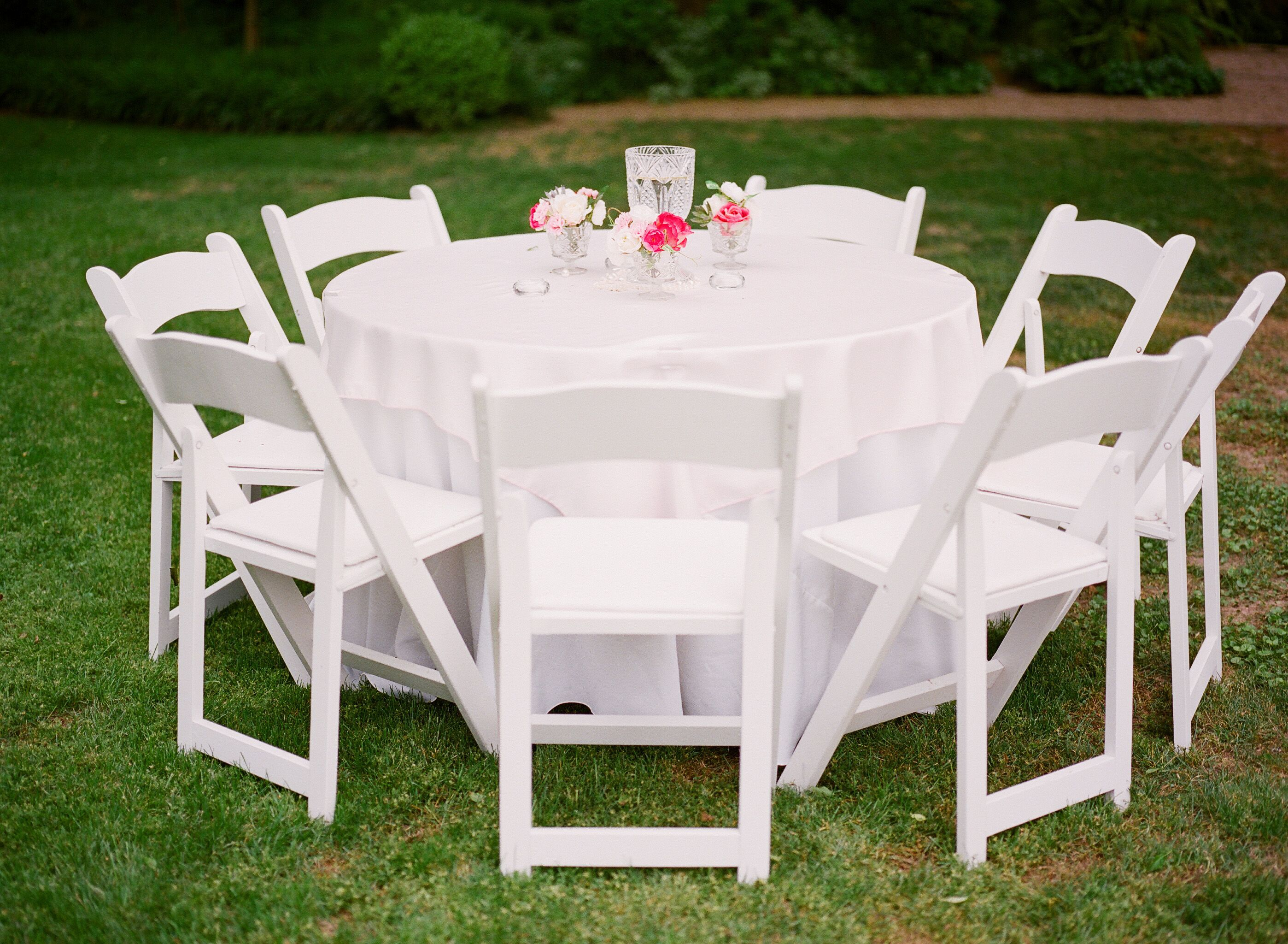 One of the tables for the reception