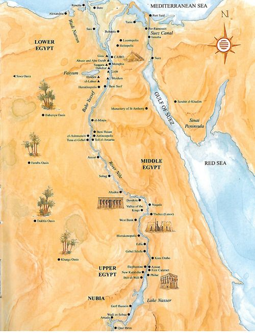 Egypts Population Centers Along The Nile Maps Etc - Map of egypt showing nile river