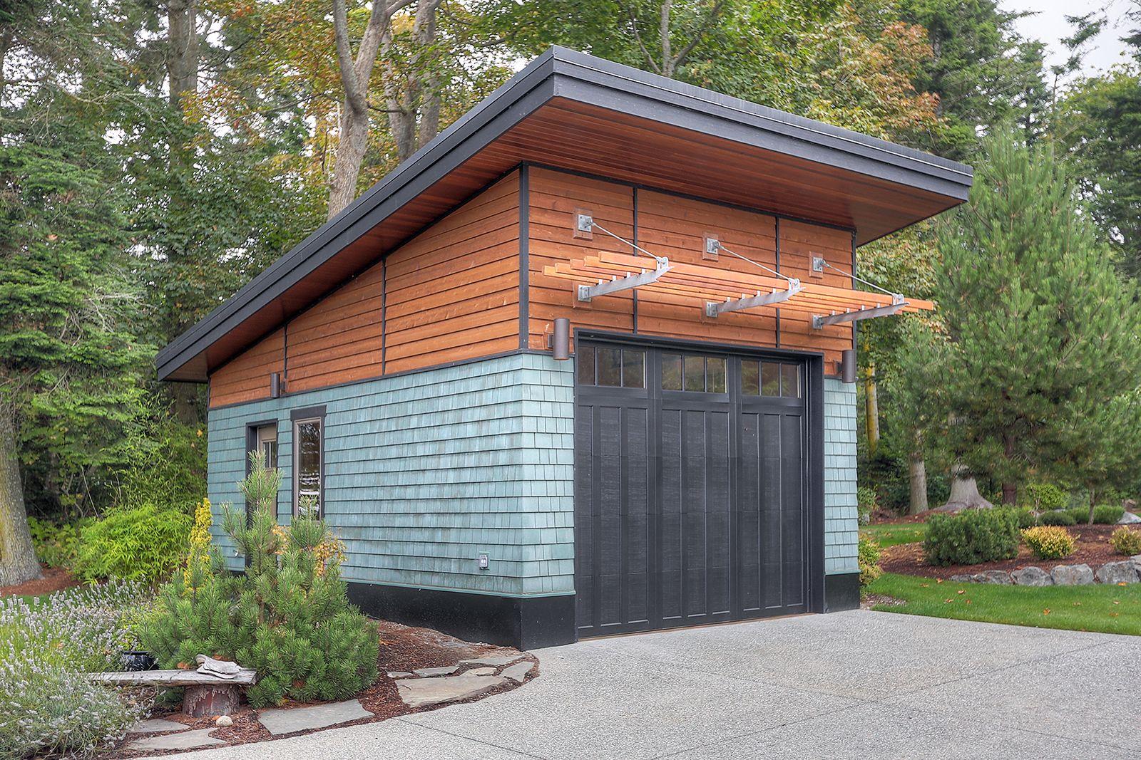 Contemporary garage Farm building design, Small house