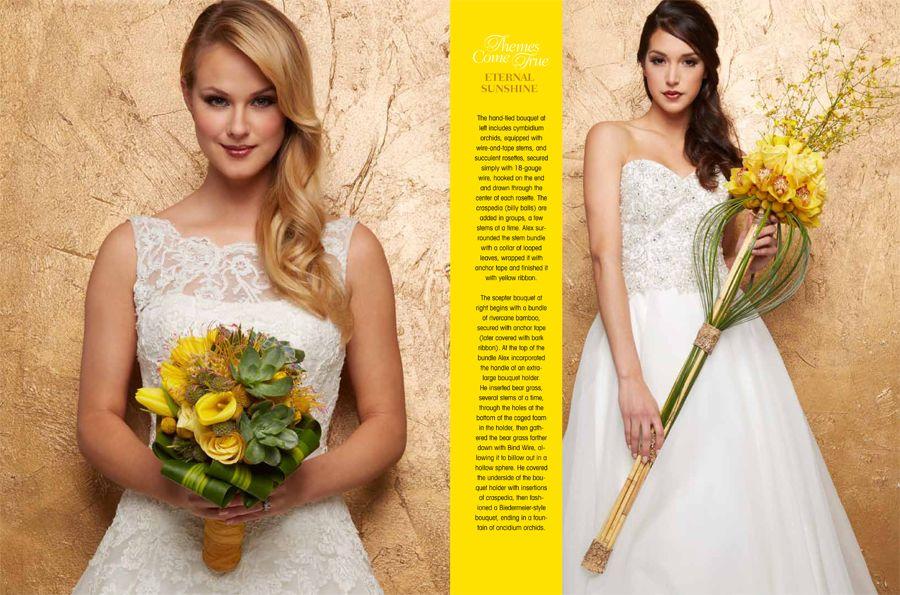 Eternal Sunshine    Unique wedding bouquets     #flowers #wedding #floralarrangements #decoration #scepter #bouquet