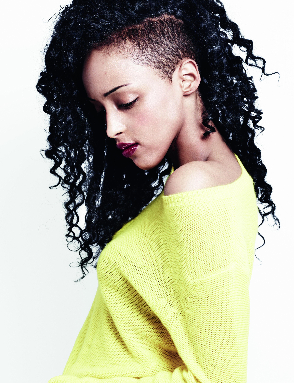 curly undercut hair