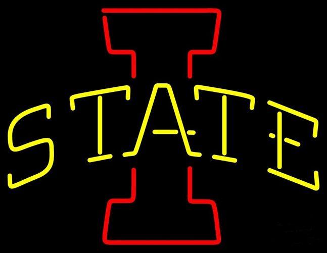 "NCAA IOWA STATE CYCLONES BEER BAR NEON LIGHT SIGN 17\"" x 14"