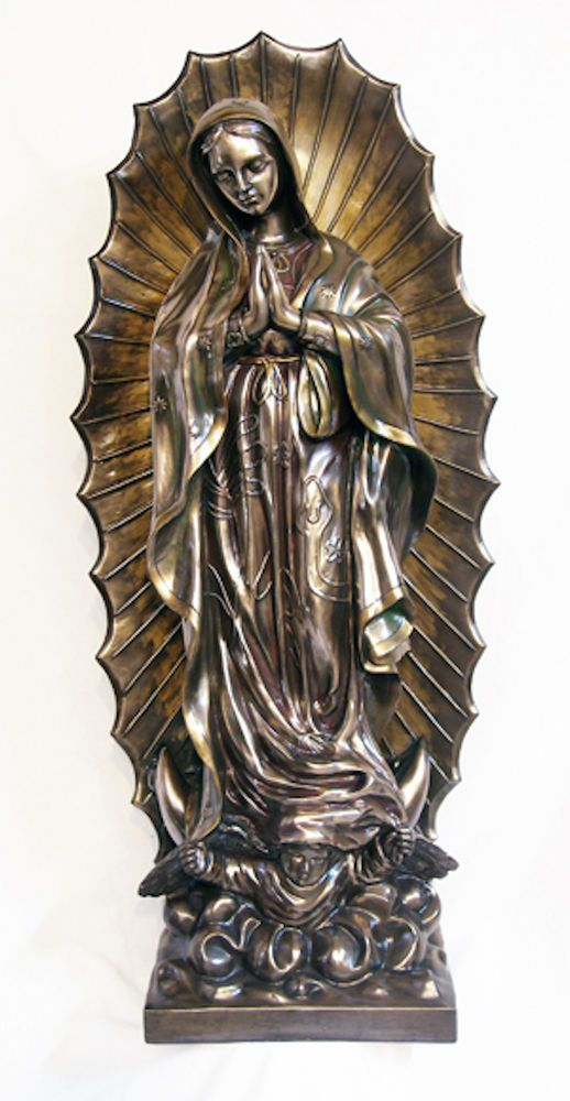 Our Lady Of Guadalupe Large Statue Indoors Or Garden Church 43 Tall Catholic