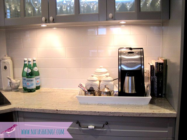 Small Kitchen Coffee Station | Coffee Time ~ My New Beverage Station French  Gray Kitchen