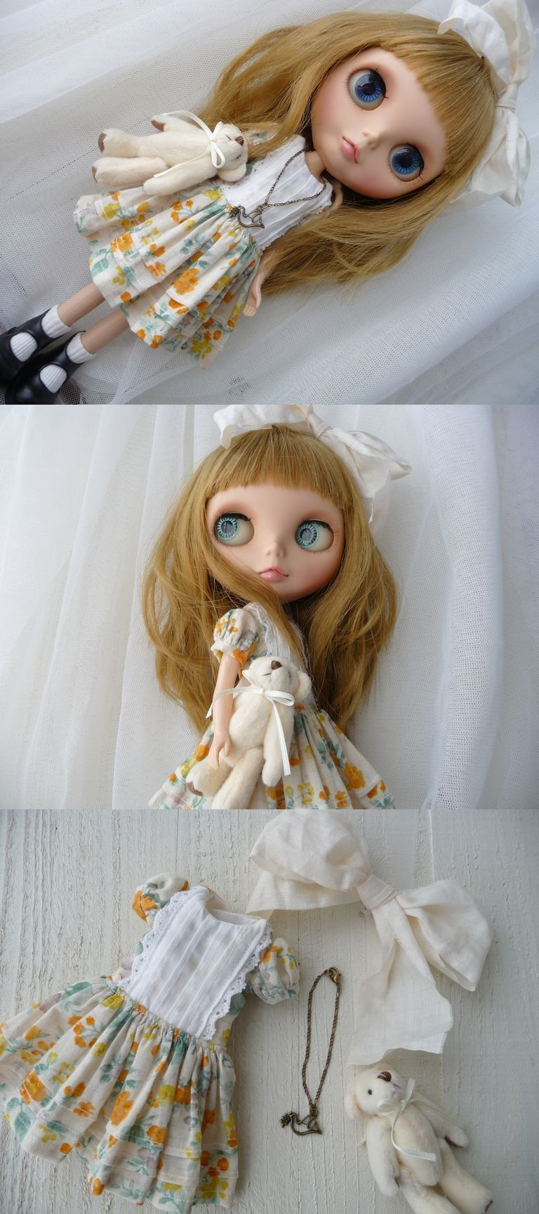 ◆cocoa*◆Blythe outfit◆小花柄のワンピース - ヤフオク!