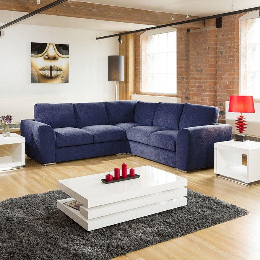 Extra Large L Shape Sofa Set Settee Corner Group 265x265cm Blue In 2020 L Shape Sofa Set L Shaped Sofa Sofa Set