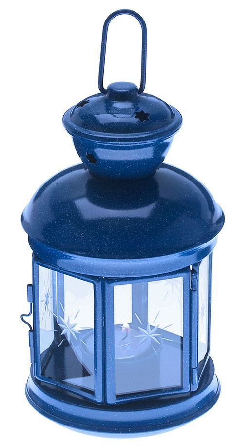 blue fiesta candle lantern kolorful kitchen home decor my house