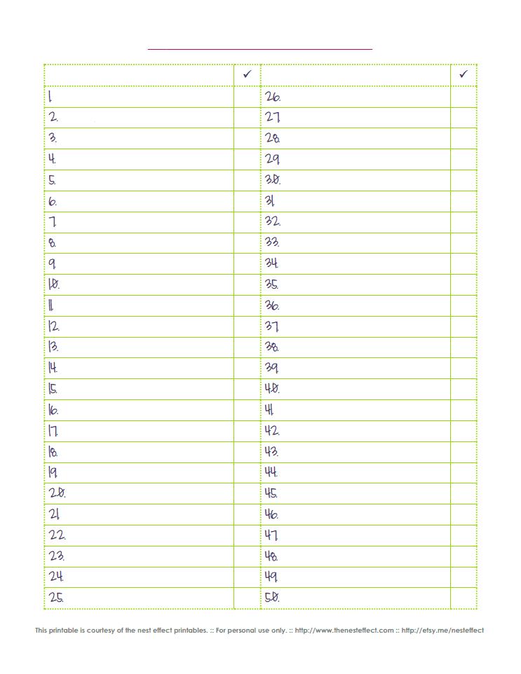 Editable Blank Checklist By The Nest Effect Pdf Google Drive Printable Checklist Templates Printable Free Template Printable