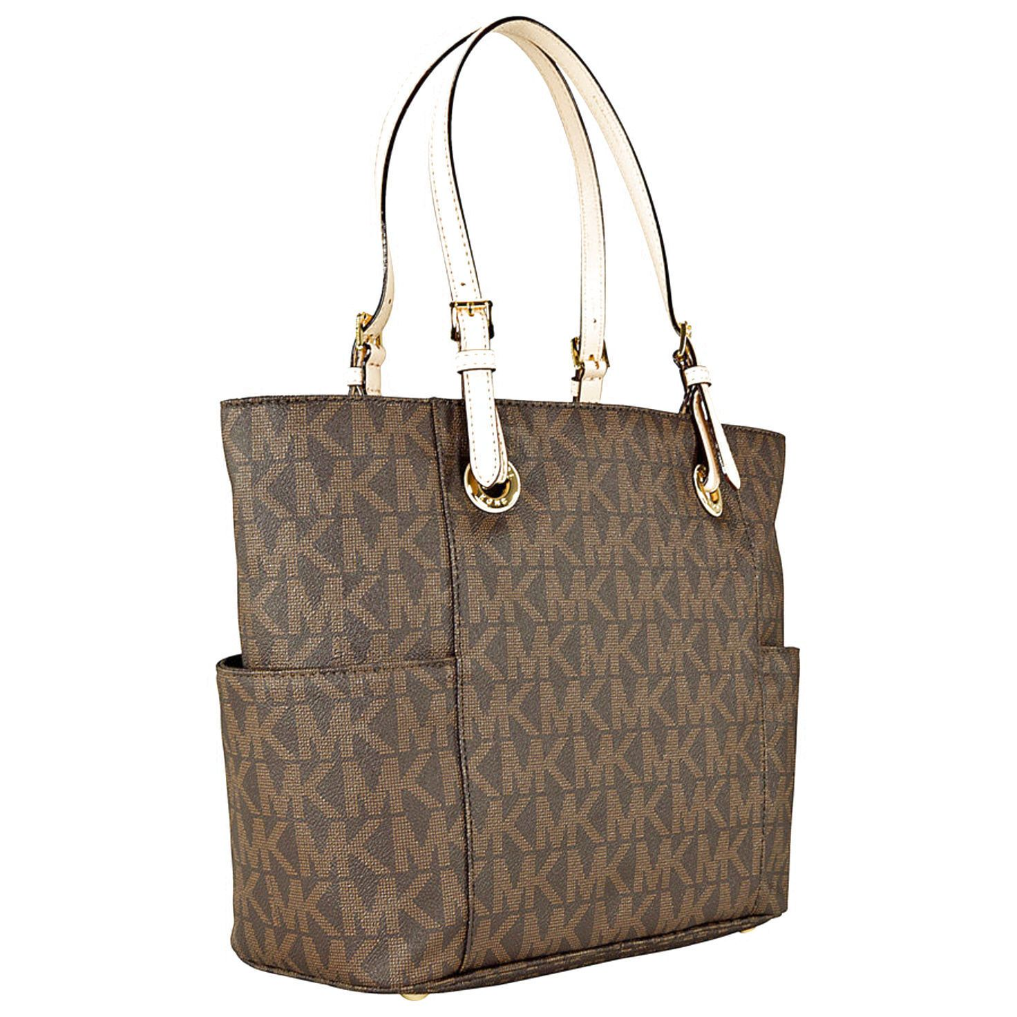 Michael Kors Jet Set Signature Logo Tote In Clothing Shoes Accessories Women S Handbags Bags Purses Ebay