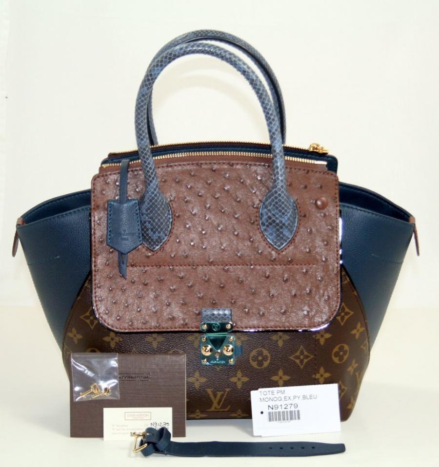 Auhentic Louis Vuitton Blue Majestueux PM Tote