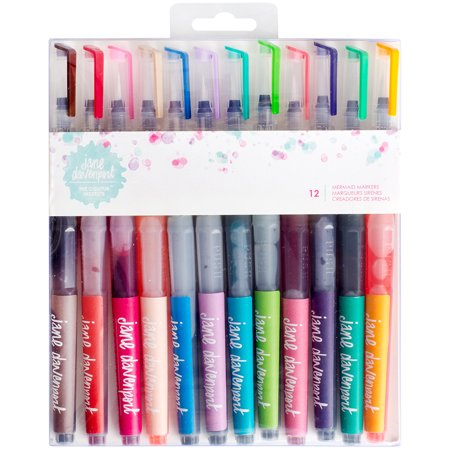 Jane Davenport Mixed Media Mermaid Watercolor Markers 12 Pkg Brush