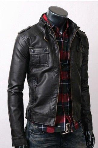New Handmade Men Black Rockstar Fashion Fall Partywear High Studded Leather Jacket S to 3XL