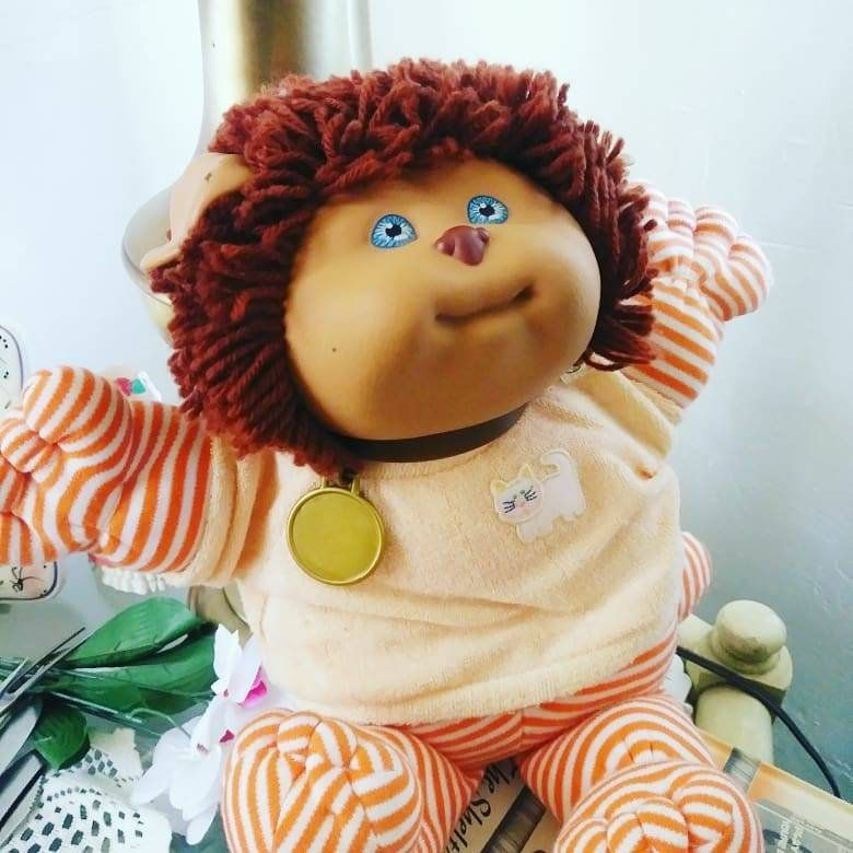 Vintage Signed Xavier Cabbage Patch Kids Koosas Doll Stuffed Animal Vintage Dolls 80 S Toys Gifts For Chi In 2020 Cabbage Patch Kids Patch Kids Cabbage Patch Dolls