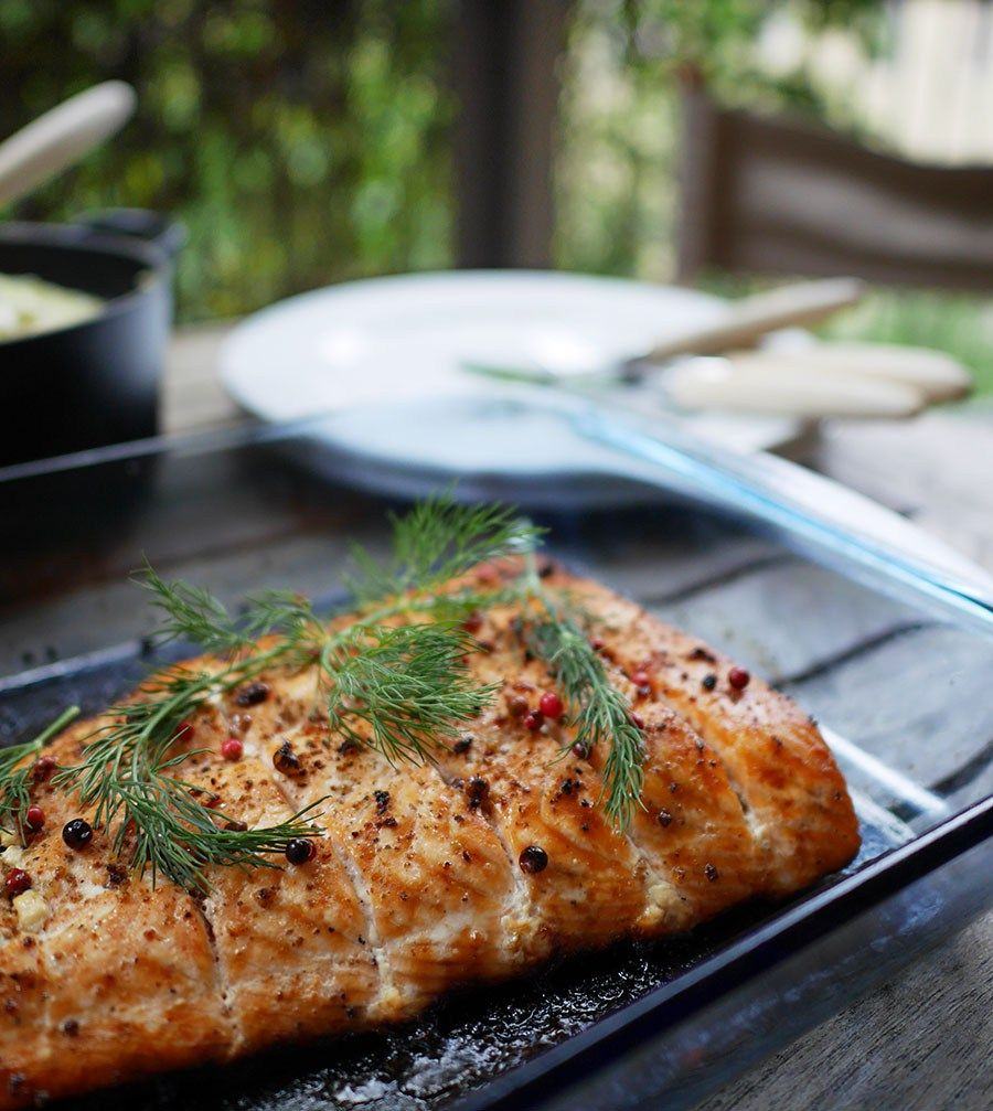 Photo of Baked salmon fillet in the oven (Lohifile uunissa) • MAHTAVA!