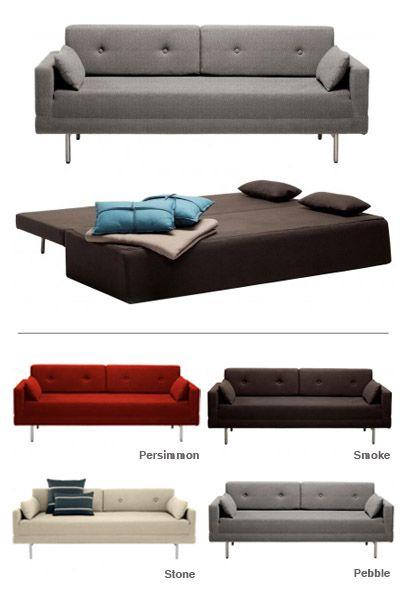 Blu Dot One Night Stand Sleeper Sofa Modern Furniture Zinc
