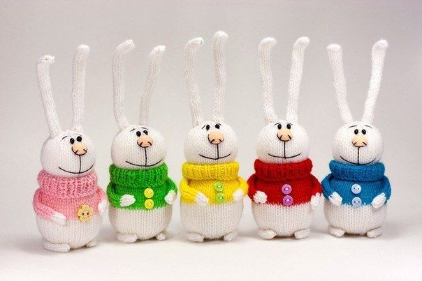 Cute crochet rabbits