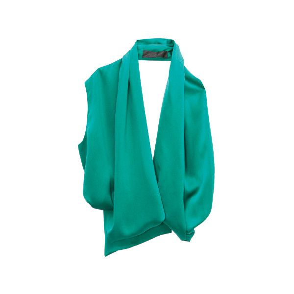 HAIDER ACKERMANN- トップ - 4570ファッションアイテムのカタログ検索 | VOGUE.COM ❤ liked on Polyvore featuring tops, shirts, blouses, outerwear, green shirt, shirt tops, green top and haider ackermann