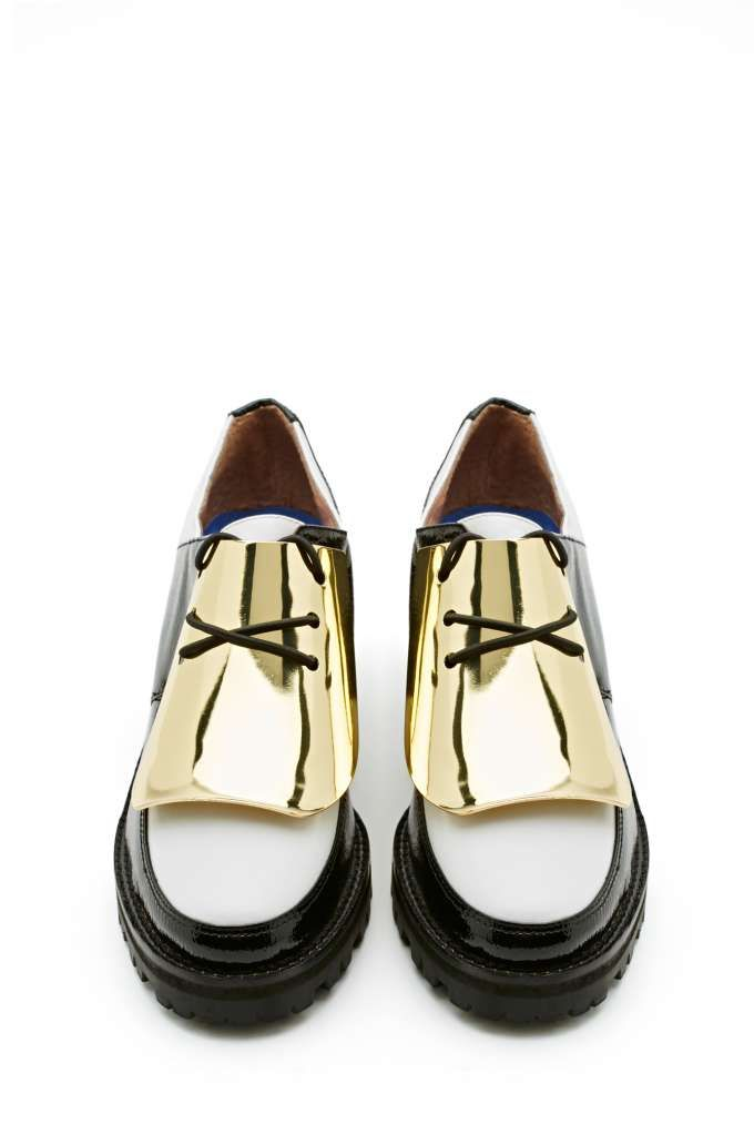 Jeffrey Campbell Lester Plated Oxford - a more walkable version of the Celine platforms they are inspired by. LOVE!
