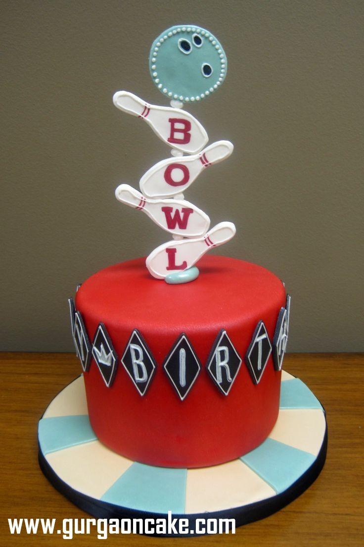 Bowling Birthday Cake