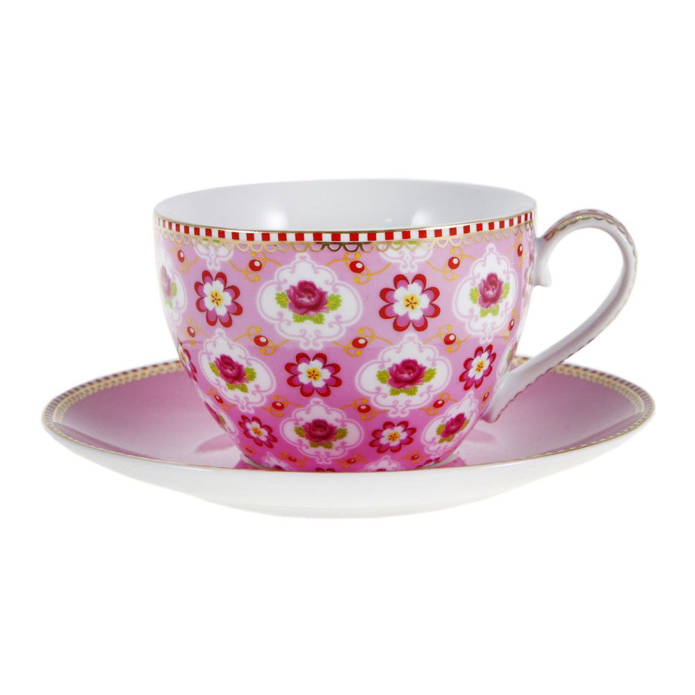 Blossom Pink Cappuccino Cup & Saucer from Pip Studio   Красота